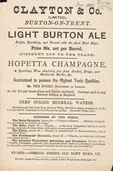 Advert For Clayton & Co., Alcohol